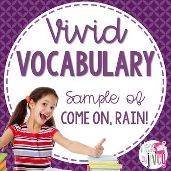 Vocabulary Sample of Come On, Rain! (grades 3-5)