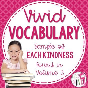 Vocabulary Sample of Each Kindness (grades 3-5)