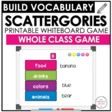 Vocabulary Scattergories Game - Whiteboard Version