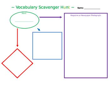 Vocabulary Scavenger Hunt