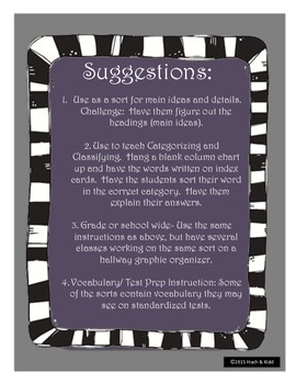 Vocabulary Scavenger Hunt (Classifying and Categorizing) #1