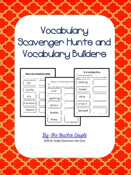Vocabulary Scavenger Hunts and Vocabulary Builders