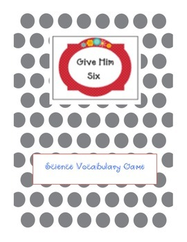 Vocabulary Science Game