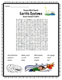 Vocabulary Science Word Search Earth's Systems Science Standard 2.ESS1-2