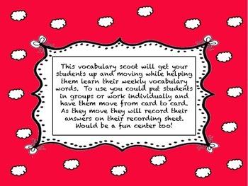 Journey's Second Grade  Unit 2 vocabulary scoot