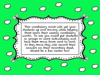 Journey's Second Grade Unit 3 vocabulary scoot