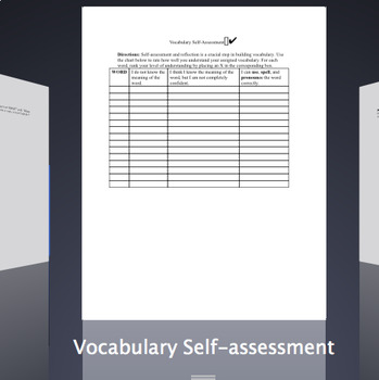 Vocabulary Self-Assessment / Rate Your Knowledge