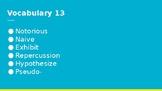 Vocabulary Set 13 - 16 for High School English