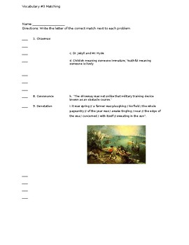 Vocabulary Set #3 Assessments