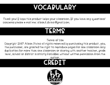 Vocabulary Sheet - Wit & Wisdom