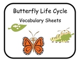 Vocabulary Sheets for Students with Autism - Butterflies