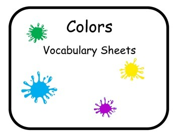 Vocabulary Sheets for Students with Autism - Colors