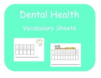 Vocabulary Sheets for Students with Autism - Dental Health