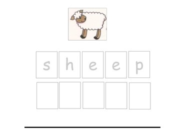 Vocabulary Sheets for Students with Autism - Farm