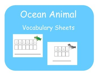 Vocabulary Sheets for Students with Autism - Ocean Animals