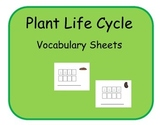 Vocabulary Sheets for Students with Autism - Plant Life Cycle