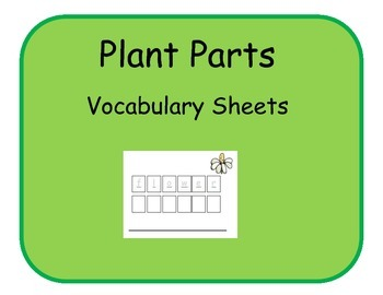 Vocabulary Sheets for Students with Autism - Plant Parts