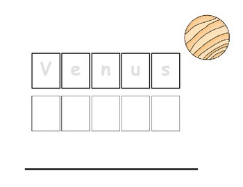 Vocabulary Sheets for Students with Autism - Space