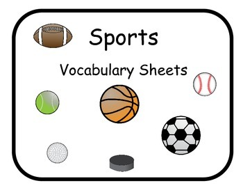 Vocabulary Sheets for Students with Autism - Sports