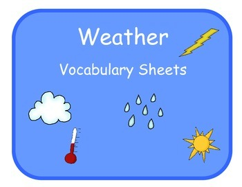 Vocabulary Sheets for Students with Autism - Weather