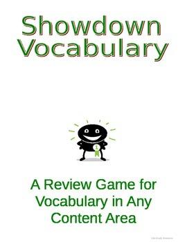 Vocabulary Showdown - A Unique Vocabulary Review Activity