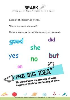 Vocabulary: Sight Words for Grade 1