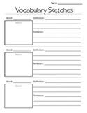 Vocabulary Sketches Graphic Organizer