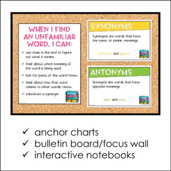 Vocabulary Skills/Word Analysis Posters