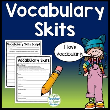 Vocabulary Skits - Fun Vocabulary Activity can be used wit