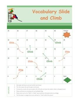 Vocabulary Slide and Climb