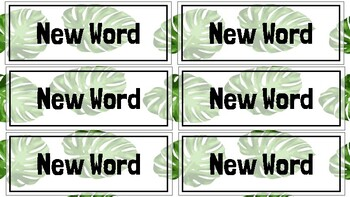 Vocabulary Slides Theme (Blank Template) WITH Word Wall!