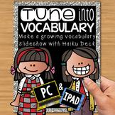 Digital Vocabulary Slideshow Presentation with Haiku Deck