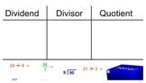 Vocabulary SmartBoard Activity - Parts of a Division Problem