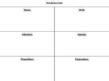 Vocabulary Sort