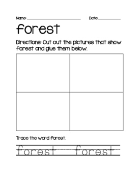 Vocabulary Sort- Forest