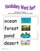 Vocabulary Sort ~ Habitats!