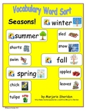 Vocabulary Sort - Seasons!