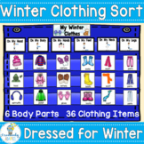 Vocabulary Sort: Winter Clothing and Body Parts