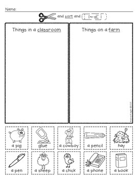 Vocabulary Sorts for Beginning ELLs {Grades K-3}