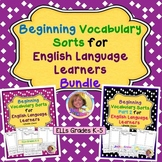 Vocabulary Sorts for English Language Learners BUNDLE #DistancelearningTPT