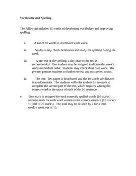Vocabulary & Spelling - Grade 12 -level 1 (university)