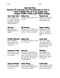 Vocabulary/Spelling Menu