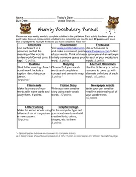Vocabulary Spelling Pursuit