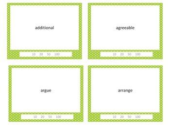 CC Vocabulary & Spelling Word Game  Magic Word #3 Cast a Spell -Bonus Gr 3 Cards