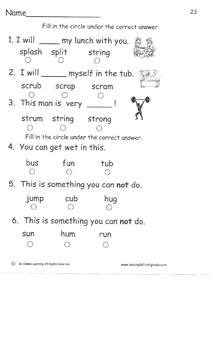 Vocabulary, Spelling and Comprehension Building