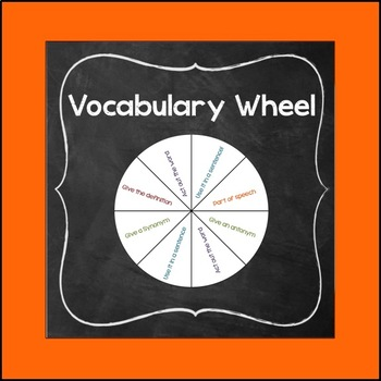 Vocabulary Spin the Wheel Activity