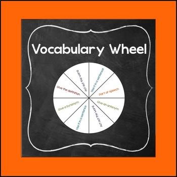 Vocabulary Spin the Wheel Activity
