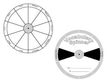 Vocabulary Spinner Pattern hands-on vocab center build background