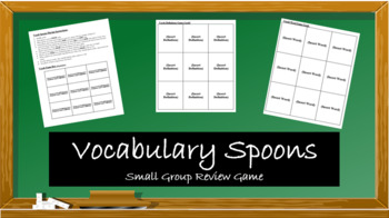 Vocabulary Spoons: Small Group Review Game