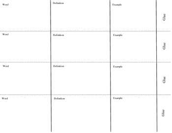 Vocabulary Spring Foldable Template